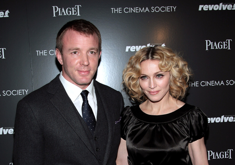 """NEW YORK - DECEMBER 02: Writer/director Guy Ritchie and musician Madonna attend a screening of """"Revolver"""" hosted by the Cinema Society and Piaget at the Tribeca Grand Screening Room on December 2, 2007 in New York City. (Photo by Stephen Lovekin/Getty Images)"""