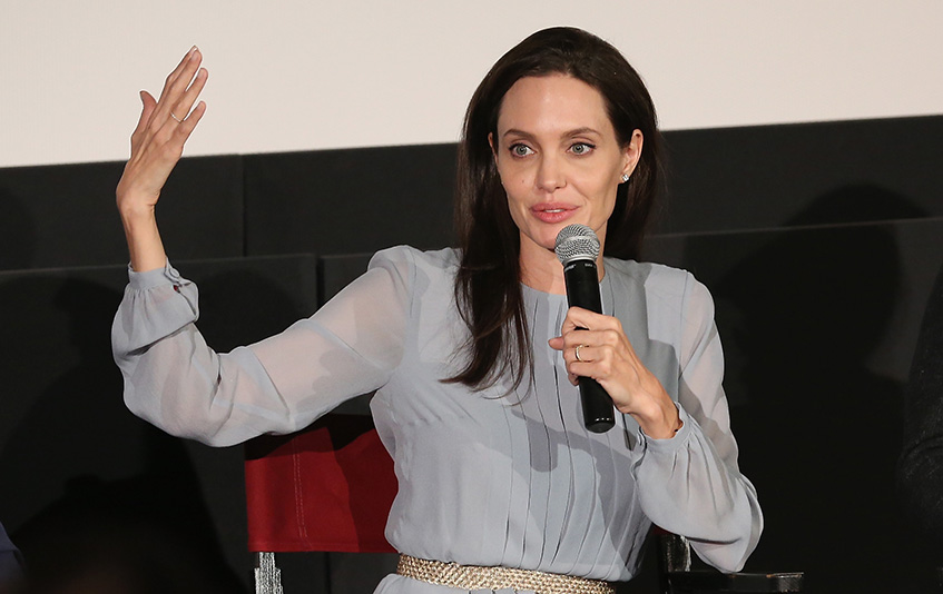 NEW YORK, NY - NOVEMBER 03:  Angelina Jolie attends an official Academy Screening of BY THE SEA hosted by The Academy Of Motion Picture Arts And Sciences on November 3, 2015 in New York City.  (Photo by Robin Marchant/Getty Images for Academy of Motion Picture Arts and Sciences)